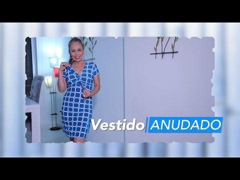 66c0f2d1f Omaira tv- DIY Fácil Vestido Anudado- knotted dress - YouTube