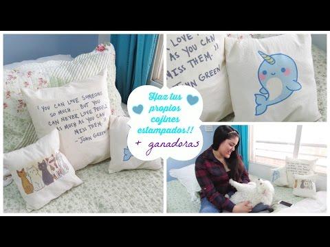 Haz tus propios cojines estampados! DIY + Ganadoras ♥ Lmaquillaje