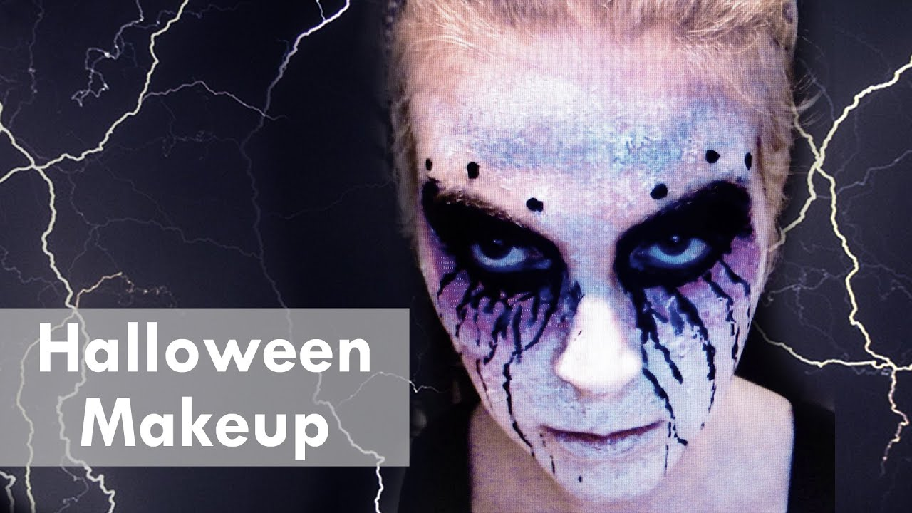 halloween makeup tutorial ganz leicht selber schminken. Black Bedroom Furniture Sets. Home Design Ideas