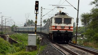 Fastest train of India WAP-5 Bhopal Newdelhi Shatabdi Express accelerates after caution!