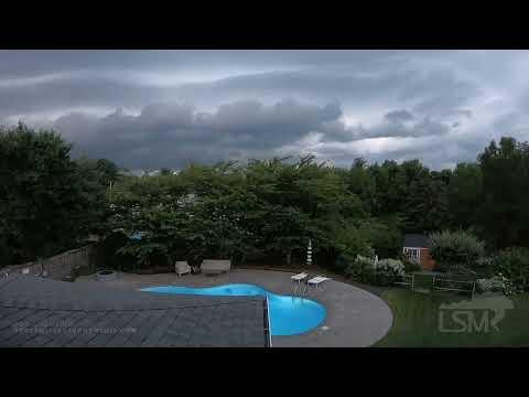 07-27-2021 Norton, MA - Squall line produces stunning shelf cloud - Drone