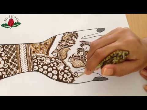 Infinity border and reverse style latest bridal mehndi henna design for 2018