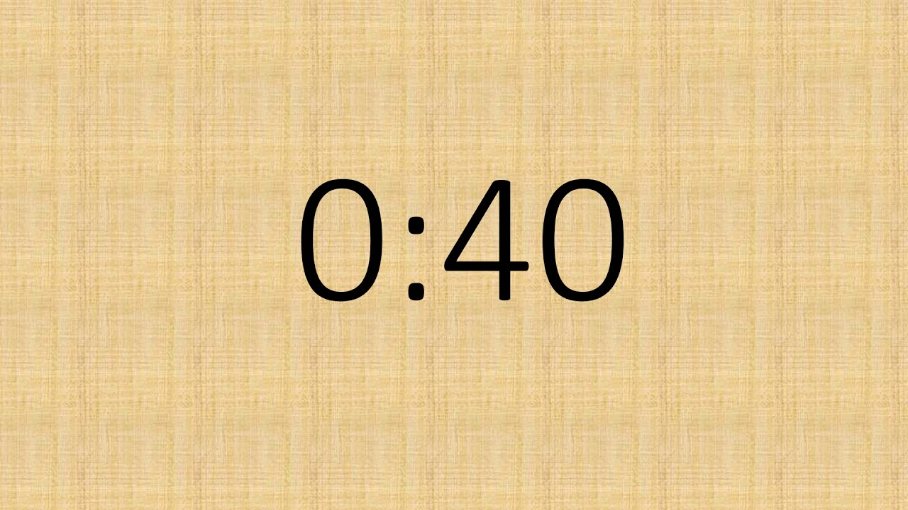 1 minute Jeopardy Timer