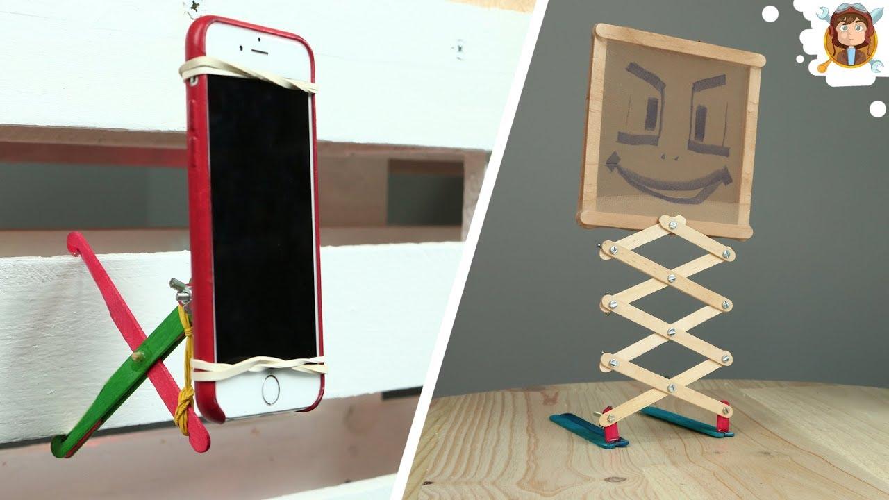 5 cosas que se pueden hacer con palitos de helado youtube - Cosas de madera para hacer ...