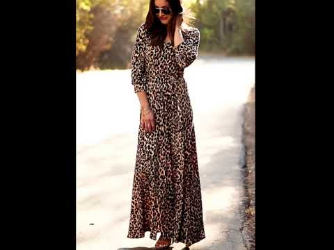 fc39629cfcc The Cheetah in the V-Neck Maxi Dress by Sexy Modest Clothing. - YouTube