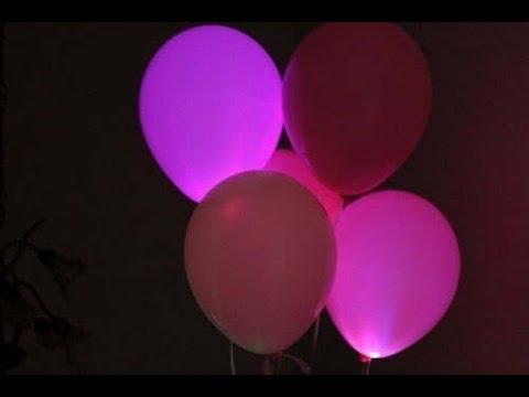 Как сделать светящиеся шары своими руками