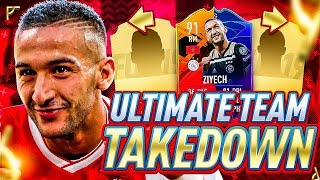 THE MOST DIFFICULT TEAM TAKEDOWN EVER!!! NEW 91 UPGRADED HEADLINER ZIYECH VS AJ3!