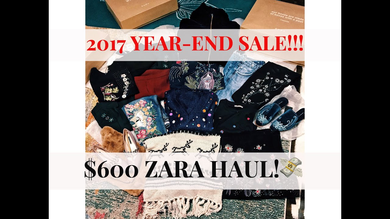 Sale End 2017 Huge Youtube year Haul Zara qxxawZXO e07cc6c81096