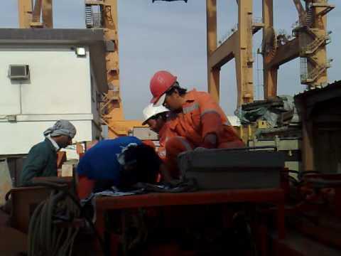 Men at work at dammam port