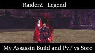 RaiderZ Legend My Assassin build and PVP vs Sorc