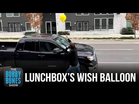 Lunchbox Lets Go Of Wish Balloon
