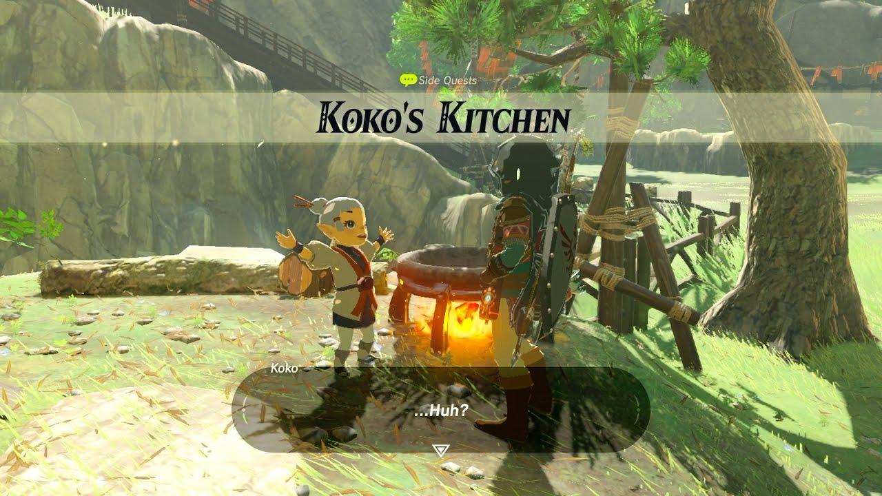 Zelda: BOTW (Koko\'s Kitchen) Side Quest - YouTube