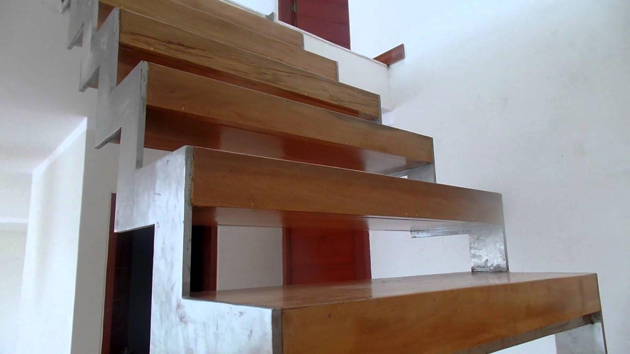 soportes de metal para escalera de metal y madera parte