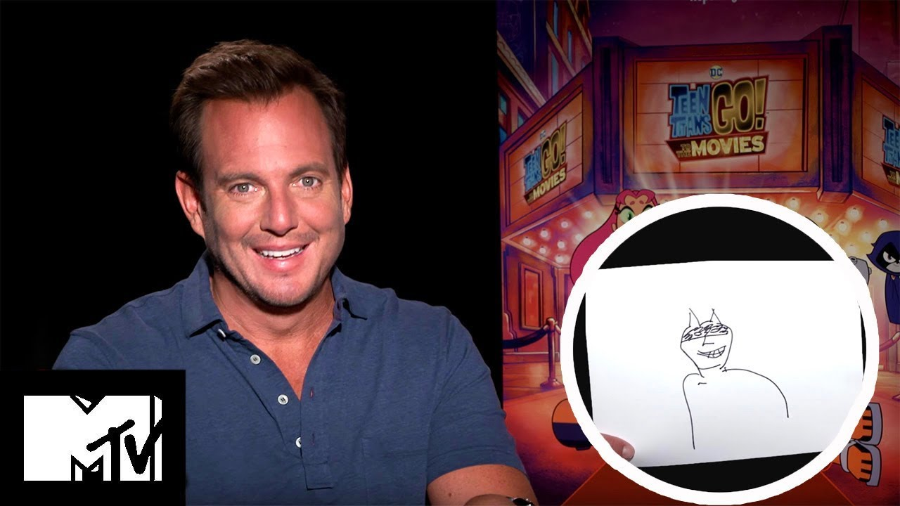 Guess The DC Hero From Will's Drawing? | Will Arnett Talks Teen Titans Movie Sequel | MTV Movies