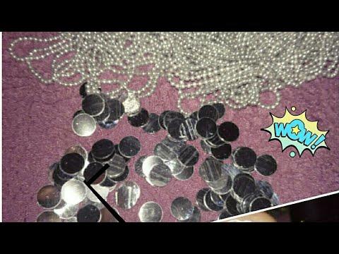 Diy Disco Earrings   Mirror Jhumka Tutorial   Unique Silk Thread Mirror Jhumka