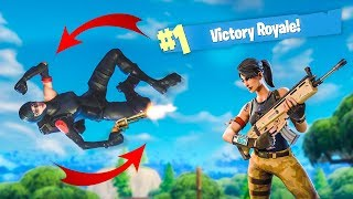 CRAZY BACKFLIP REVOLVER SHOT! - (Fortnite Battle Royale)