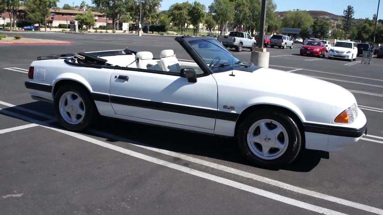 1991 Ford Mustang 5 0 Convertible 1 Owner Mint For