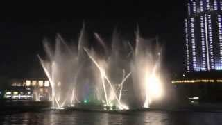 Dubai Fountain - Night - Michael Jackson 'Thriller'