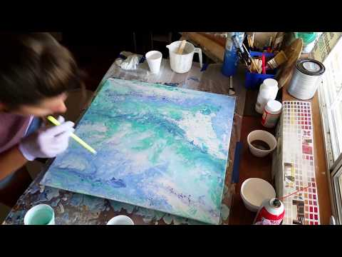 Paint acrylic Fluid Flow Pour abstract art