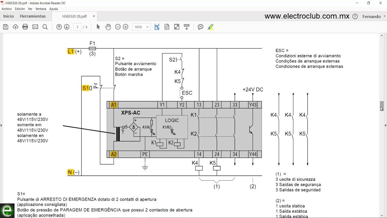 Diagrama De Conexi U00f3n Del M U00f3dulo De Seguridad Xps Ac