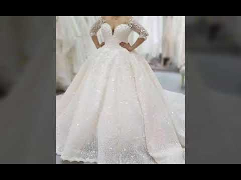 91617eb55 لأطلالة ملكية أجمل فساتين زفاف عرس لعام 2018 /2019 - YouTube