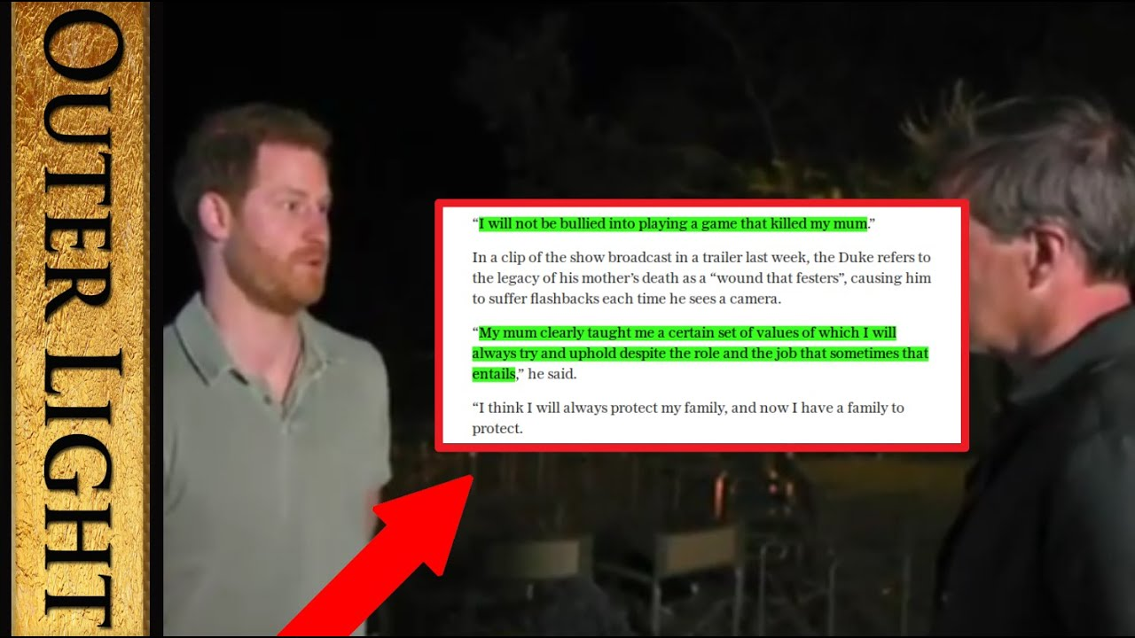 """Prince Harry says in interview: """"If anybody else knew what what knew"""" - The Outer Light"""
