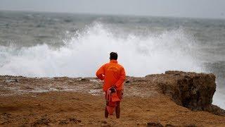 Hurrikan Leslie trifft auf Portugal
