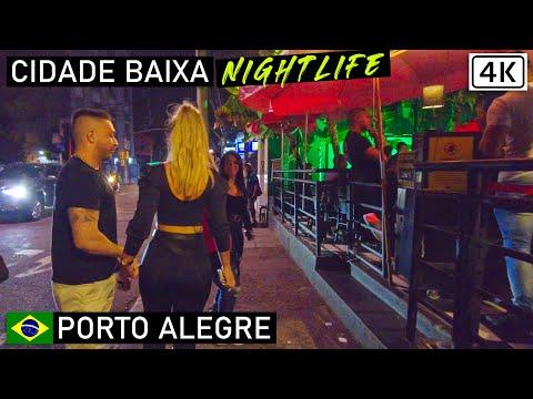 Porto Alegre Nightlife: Cidade Baixa 🇧🇷   Rio Grande do Sul, Brazil  【4K】2021