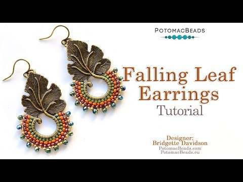Falling Leaf Earrings - DIY Jewelry Making Tutorial By PotomacBeads
