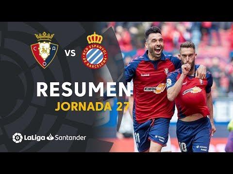 Osasuna Espanyol Goals And Highlights