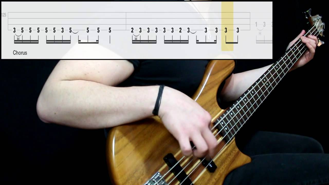 Muse - Reapers (Bass Only) (Play Along Tabs In Video)