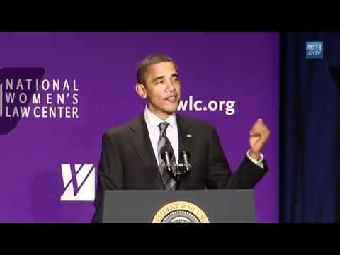 President Obama Speaking about Google Science Fair Winners (National Women's Law Center)