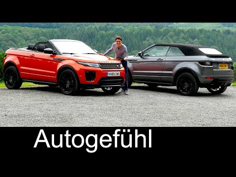 Range Rover Evoque Cabriolet FULL REVIEW test driven new SUV Convertible neu