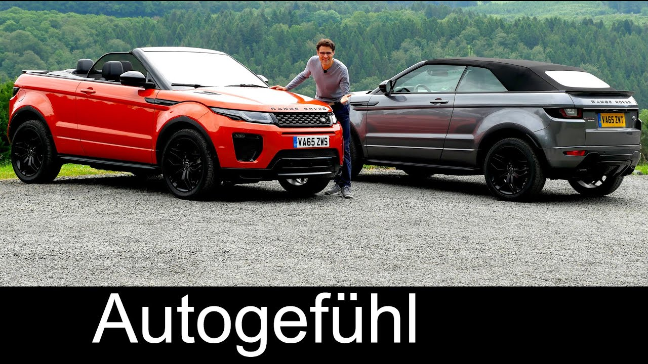 range rover evoque cabriolet full review test driven new suv convertible neu youtube. Black Bedroom Furniture Sets. Home Design Ideas