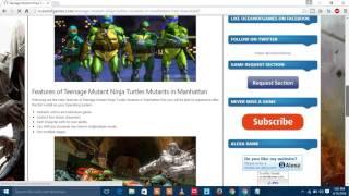 HOW TO download Teenage Mutant Ninja Turtles Mutants in Manhattan2016 Free Download PC  NO TORRENT