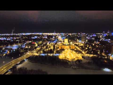 Winnipeg Winter Drone Night Flight II