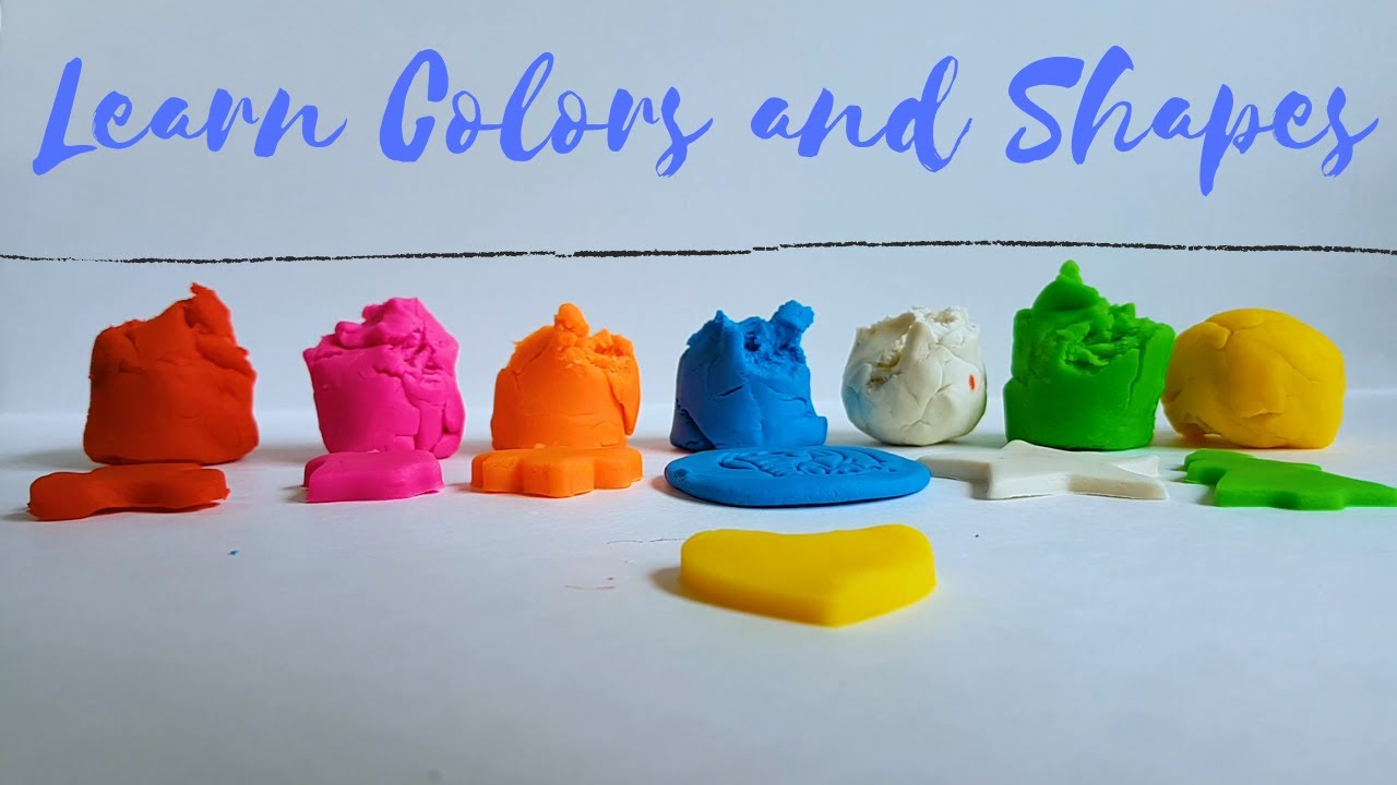 Learn Color and Shapes with Playdough | Kids Songs | Play and Learn Videos  by Little Duckies