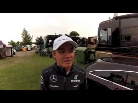 Nico Rosberg winner of the British GP 2013  video message to the fans