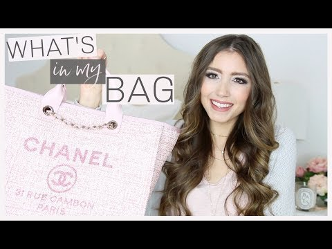 WHAT'S IN MY BAG 2019 | CHANEL DEAUVILLE TOTE REVIEW