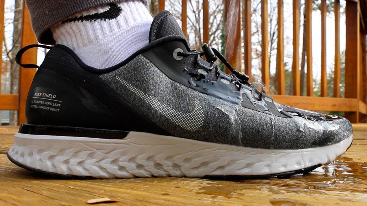 44fcf7fe1b61 Solution To Wet Socks (Nike Odyssey React Shield Review) - YouTube