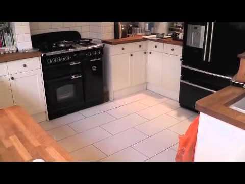 Ceramic Tiles Before Laying Marmoleum Youtube
