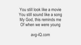 When We Were Young by Adele Guitar Karaoke