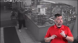 Employee Wrestles Scattergat Away From Robber