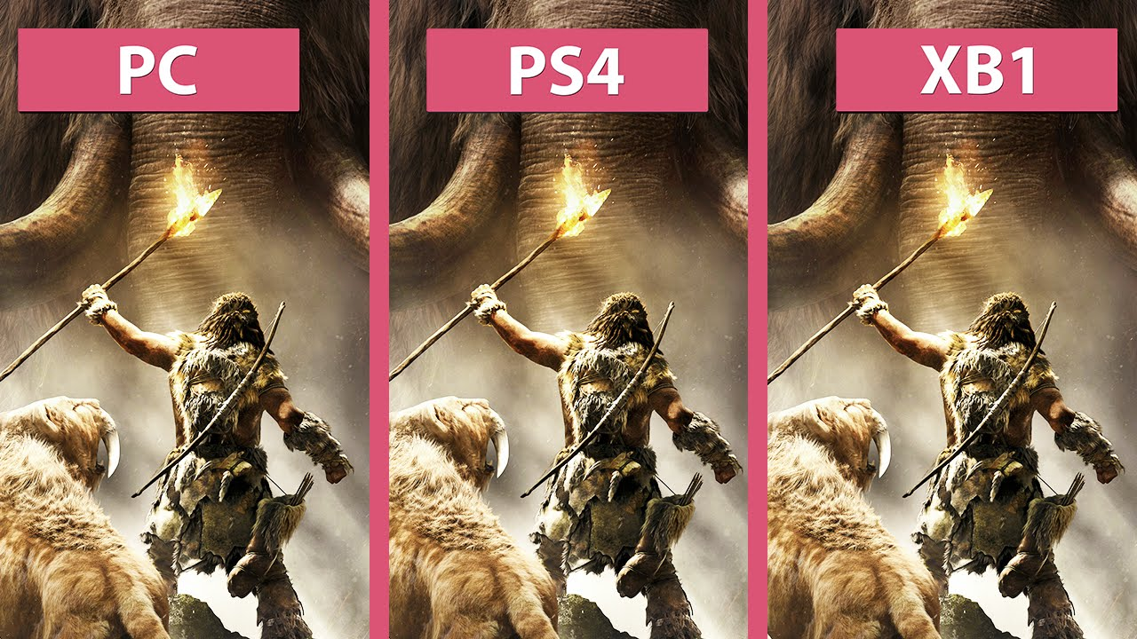 Far Cry Primal Pc Vs Ps4 Vs Xbox One Graphics Comparison Youtube