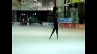 花樣滑冰表演—劉容若 (無聲版) 20120519