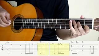 SOLO - JENNIE (BLACKPINK) - Fingerstyle Guitar - Tutorial TAB.