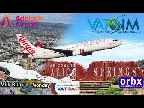 PMDG 737NGX spills some milkrun from Adelaide to Alice Springs