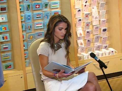 "Queen Rania Al Abdullah of Jordan launches ""Sandwich Swap"" @ the UN Bookshop"