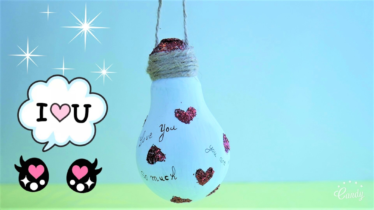 Unique Love Messages Using Light Bulbs | Recycled Light Bulb Crafts