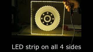 Acrylic machining LED illuminated sign